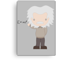 Excuse Me While I Science: Albert Einstein - E=mc² Equation Canvas Print