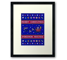 Pokemon Christmas  Framed Print