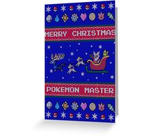 Pokemon Christmas  Greeting Card