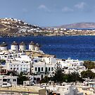 Windmills of Mykonos by Tom Gomez
