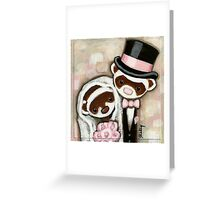 Ferret Wedding Greeting Card