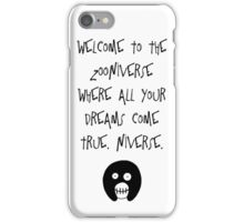 The Mighty Boosh – Welcome to the Zooniverse (Black) iPhone Case/Skin
