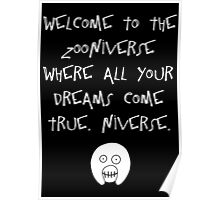 The Mighty Boosh – Welcome to the Zooniverse (White) Poster