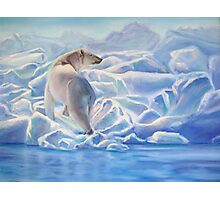 Blue Ice Bear Photographic Print