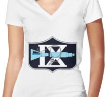 Gemini 9A Mission Logo Women's Fitted V-Neck T-Shirt
