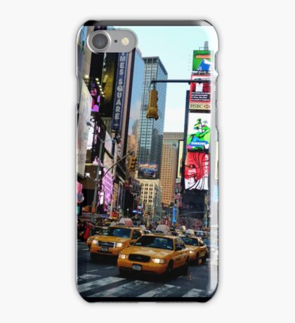 Cabs in Times Square iPhone Case/Skin