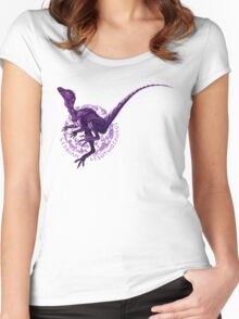 Lesbian Lesothosaurus (with text)  Women's Fitted Scoop T-Shirt