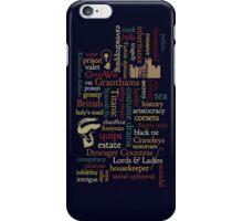 Downton Abbey Word Mosaic iPhone Case/Skin