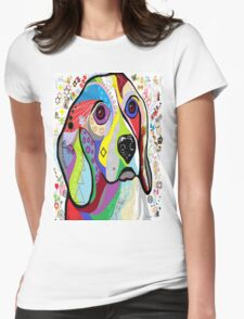 BEAGLE Womens Fitted T-Shirt