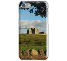 Rock of Cashel with a stone wall iPhone Case/Skin