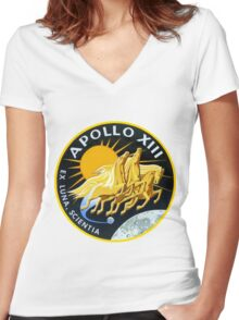 Apollo 13 Mission Logo Women's Fitted V-Neck T-Shirt