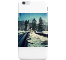 Snow Covered Tracks iPhone Case/Skin