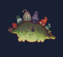 Green Stegosaurus Derposaur with Hats Kids Clothes