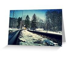 Snow Covered Tracks Greeting Card
