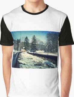 Snow Covered Tracks Graphic T-Shirt