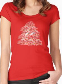 1000 Paper Cranes Women's Fitted Scoop T-Shirt
