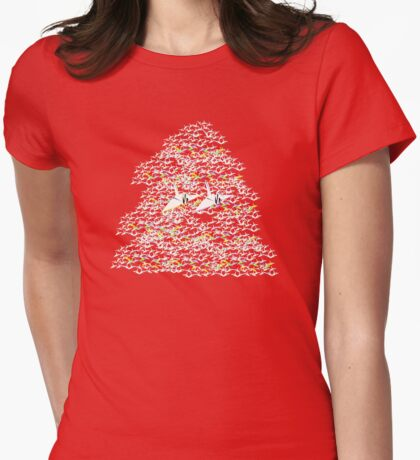 1000 Paper Cranes Womens Fitted T-Shirt