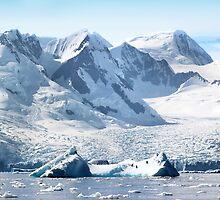 Cierva Cove with Glaciers & Iceberg by Carole-Anne