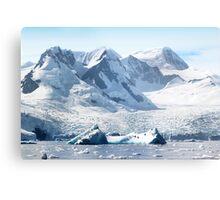 Cierva Cove with Glaciers & Iceberg Metal Print