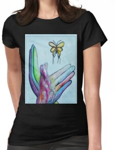 American Sign Language BUTTERFLY Womens Fitted T-Shirt