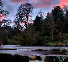Water of Leith Sunset by Jordan Moffat