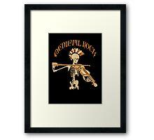 Knochengeiger / Skeleton Fiddler  – Medieval Rock Framed Print