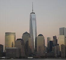 One World Trade Center,  Lower Manhattan Skyline, View from Jersey City, New Jersey by lenspiro