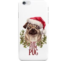 Bah Hum Pug iPhone Case/Skin