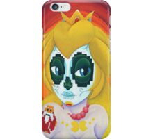 Day of the digital dead Princess Peach iPhone Case/Skin