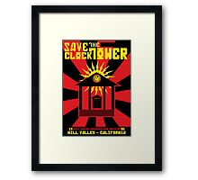 Clocktower Propaganda Framed Print