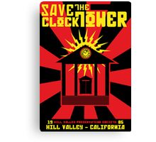 Clocktower Propaganda Canvas Print