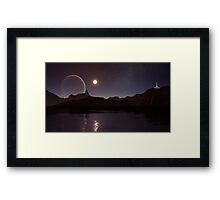 By a Pale Moon Bright Framed Print