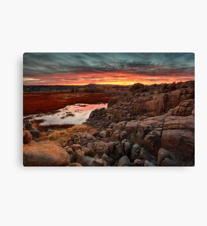 Hard Way To Sunset Canvas Print
