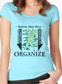 Apocalyptic Organization Women's Fitted Scoop T-Shirt