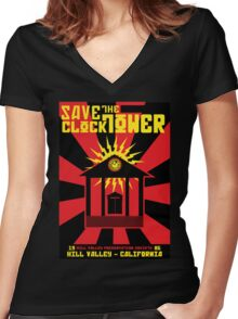 Clocktower Propaganda Women's Fitted V-Neck T-Shirt