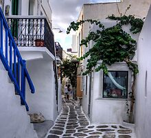 Residential Streets of Mykonos - iPad Case by Tom Gomez