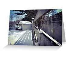 Snowy Shed Greeting Card