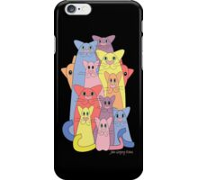 Twelve Cats For Happiness iPhone Case/Skin