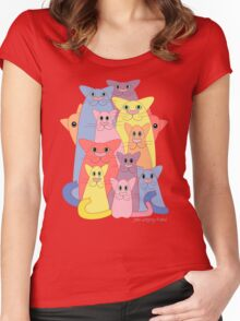Twelve Cats For Happiness Women's Fitted Scoop T-Shirt