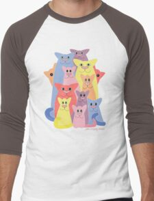 Twelve Cats For Happiness Men's Baseball ¾ T-Shirt