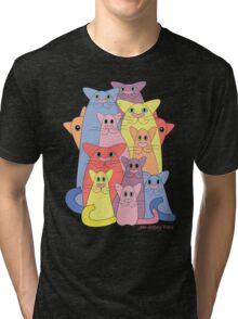 Twelve Cats For Happiness Tri-blend T-Shirt