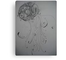 Patterned Jellyfish Canvas Print