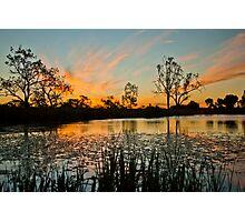 Dam Sunset Photographic Print