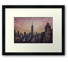 Twilight Fires Framed Print