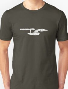 To Boldly Go Where No Typography Has Gone Before (White) Unisex T-Shirt