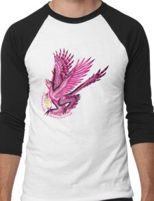 Gynesexual Graciliraptor (with text)  Men's Baseball ¾ T-Shirt