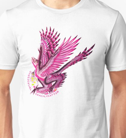 Gynesexual Graciliraptor (with text)  Unisex T-Shirt