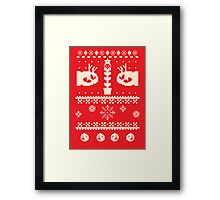 Ugly Mario Christmas Sweater Framed Print