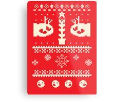 Ugly Mario Christmas Sweater Metal Print