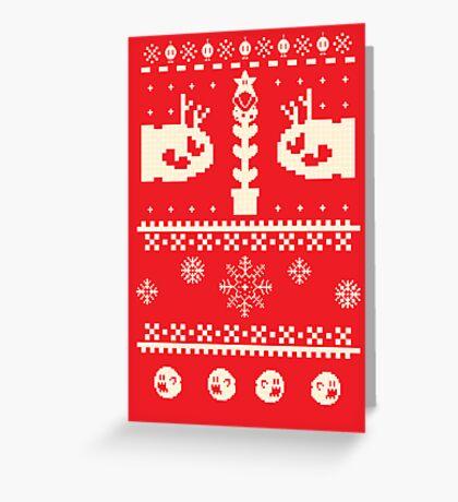 Ugly Mario Christmas Sweater Greeting Card